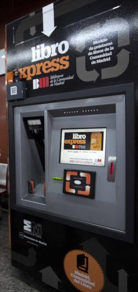 Libroexpress, máquina de autopréstamo gratuito de libros