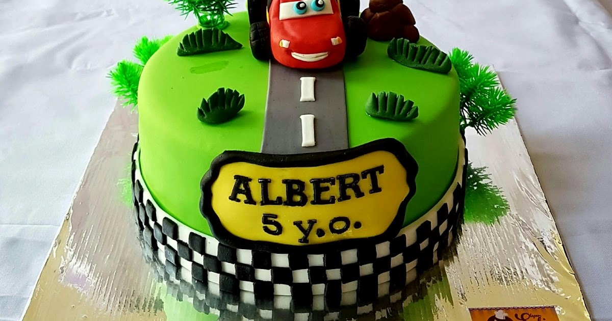 dapur solia  cake lightning mcqueen for albert 5th