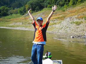 お手上げの菅原選手 今日も1番帰着でした。