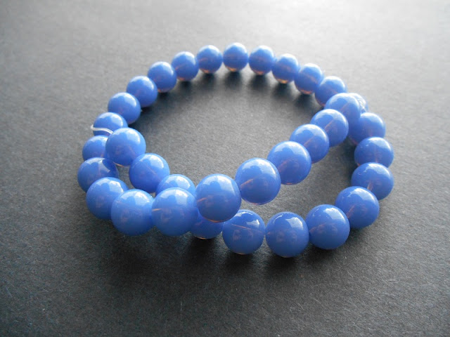 10mm Sky Blue Glass Rounds