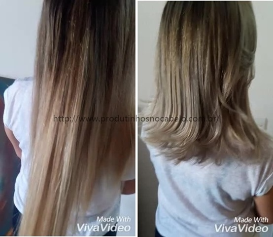 transformação cabelo comprido