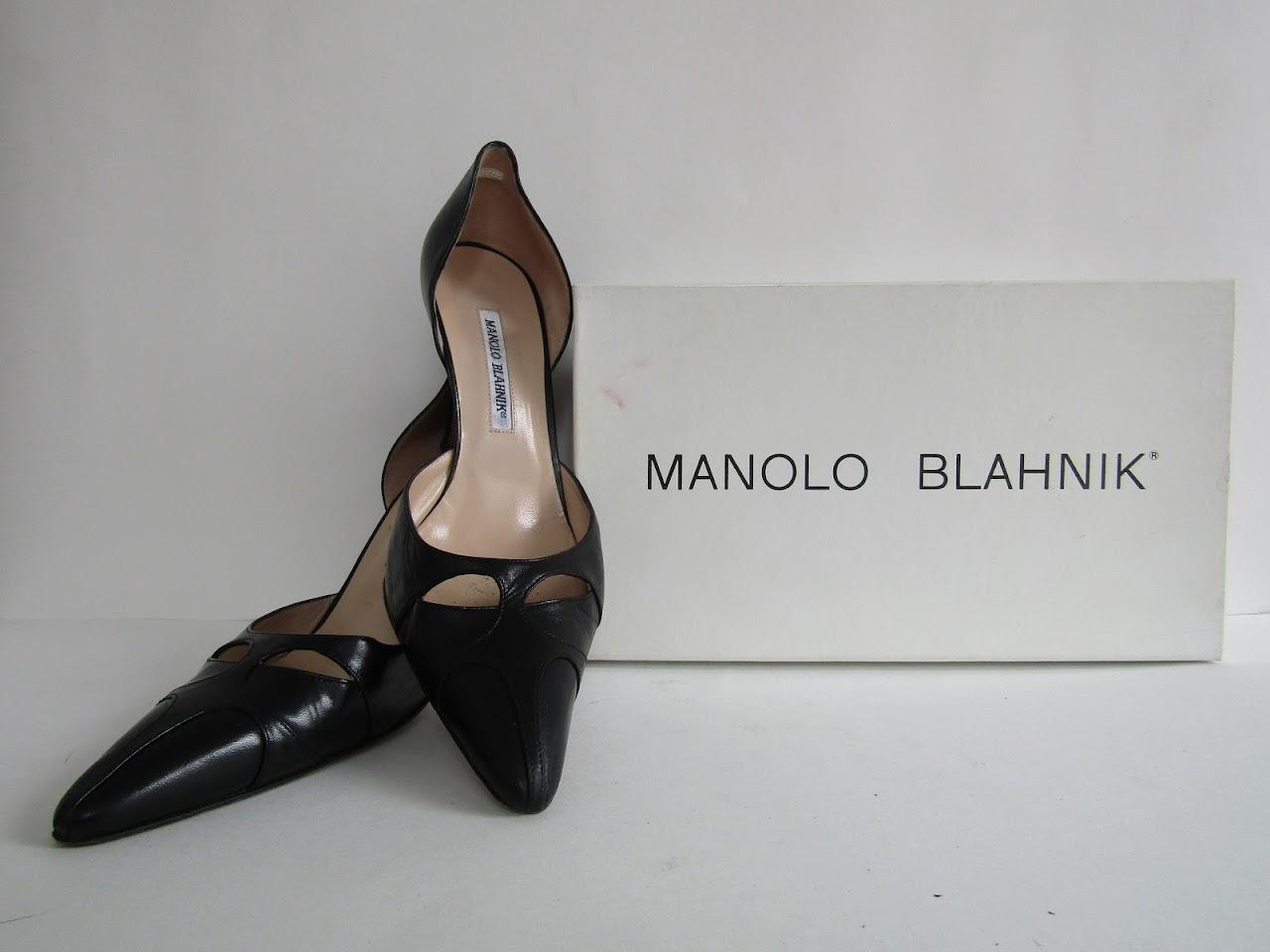 Manolo Blahnik Leather Pumps
