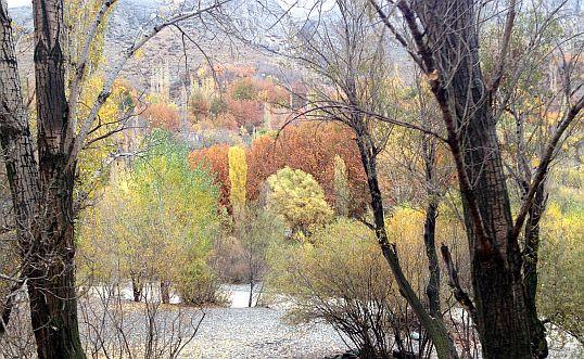 November-Stimmung im Karaj-Tal an der Chalus-Road