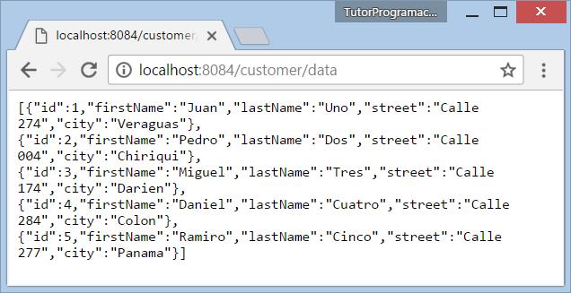 Spring MVC Generar vistas en formato JSON