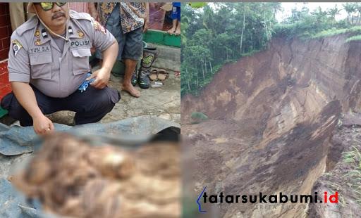 22 Makam tergerus longsor di Sukabumi / Foto : Rapik Utama (14/1/2019)
