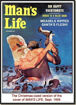 MAN'S LIFE, Sept 1956, cover by Wil Hulsey, spoof MPM