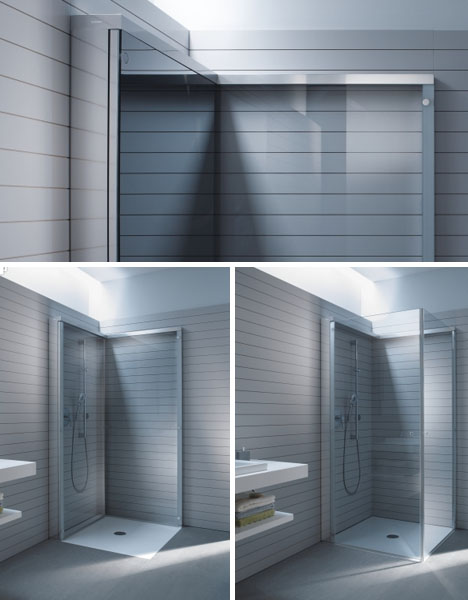Trendy folding shower for small bathrooms 2016 styles 7 for Folding shower for small bathrooms