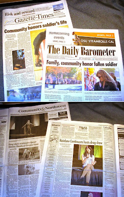 Soldier's funeral bumps OSU drag queens off front page Oct. 21, 2013