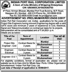 IPRCL Advertisement 2017 www.indgovtjobs.in