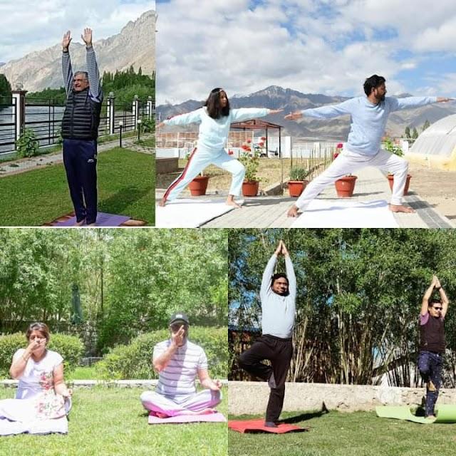 UT Ladakh Celebrate 7th International Yoga Day with Full Fervour