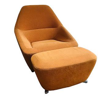 Ligne Roset Modern Lounge Chair & Ottoman