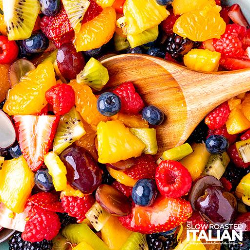 Summer Fruit Salad with Cinnamon Vanilla Dressing