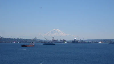 Mt. Rainier from the port of Seattle as we head to the rainy North