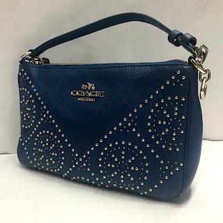Coach Blue Leather Micro Bag