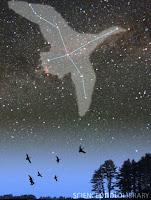 κύκνος αστερισμός, cygnus constellation.