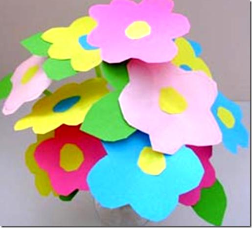 manualidad con una flor muy bonita para el día de la madre