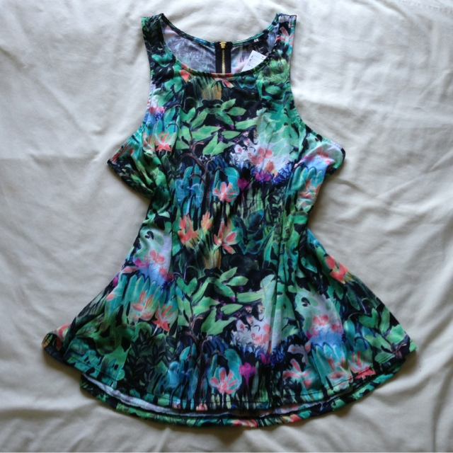 H&M Tropical Print Dress