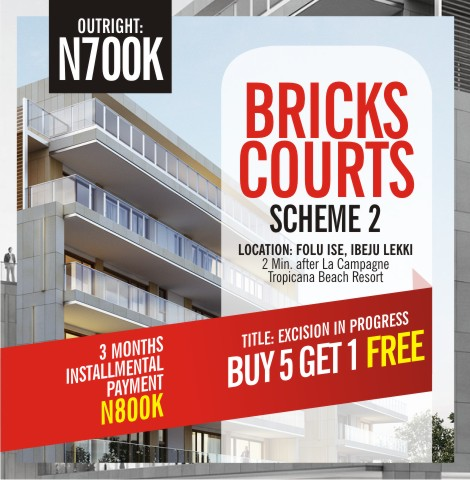 BRICKS COURTS SCHEME 2, FOLU ISE, IBEJU LEKKI, LAGOS (LAND FOR SALE)