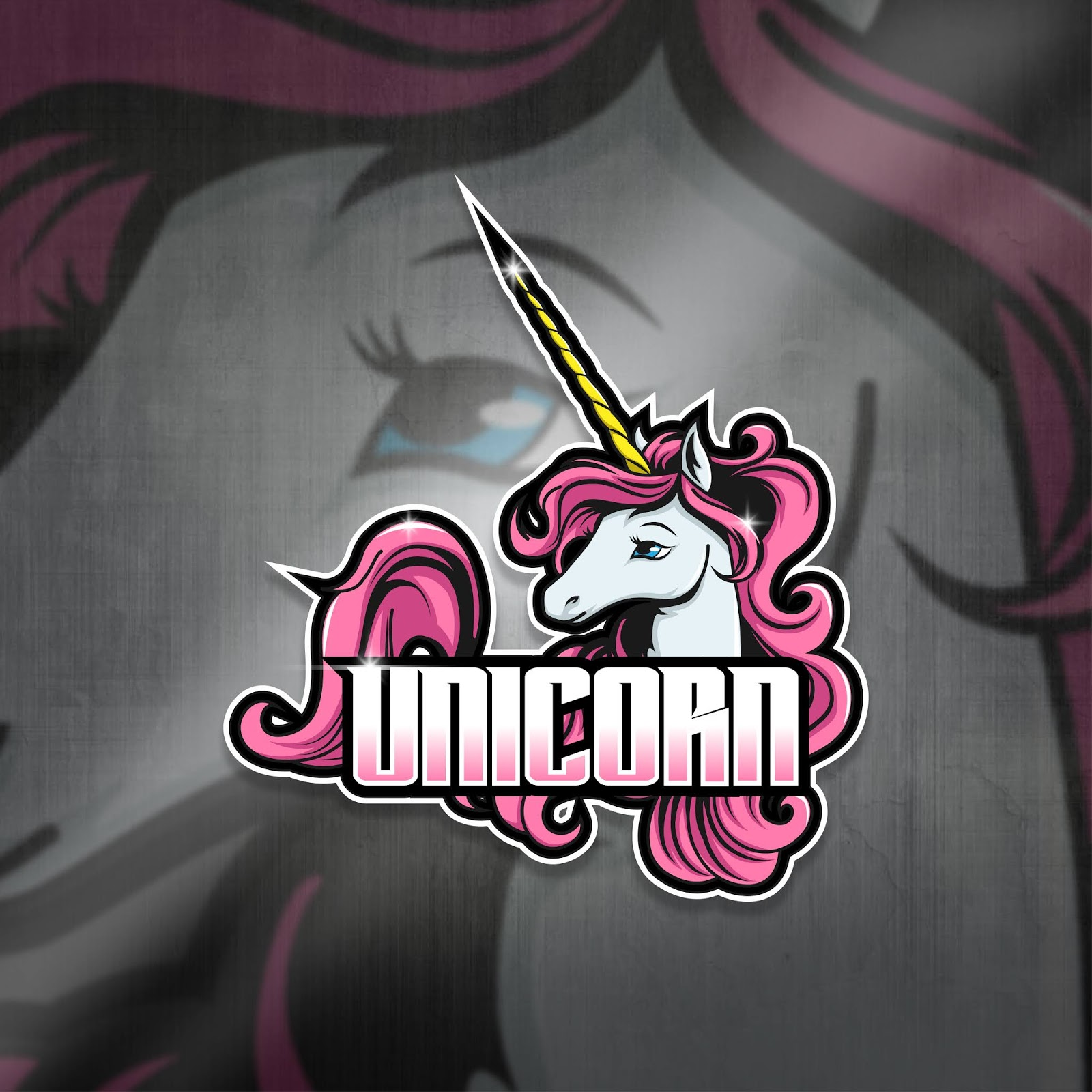 Esports Mascot Logo Team Unicorn Squad Free Download Vector CDR, AI, EPS and PNG Formats