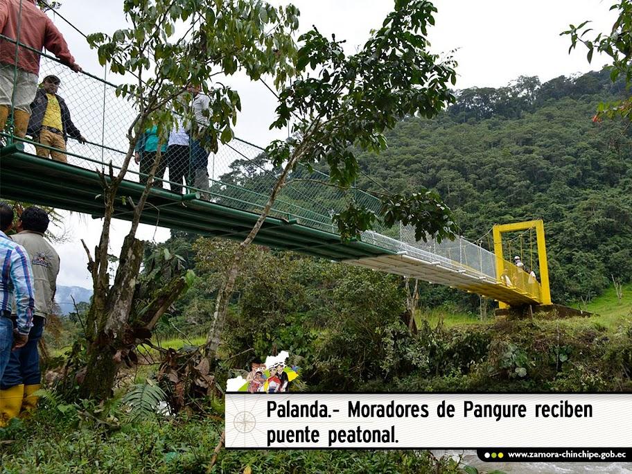 EN PALANDA MORADORES DE PANGURE RECIBE PUENTE PEATONAL