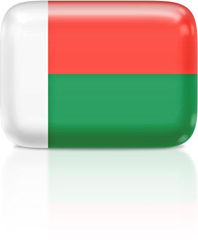 Malagasy flag clipart rectangular