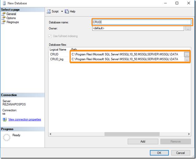 Database & Model File Location