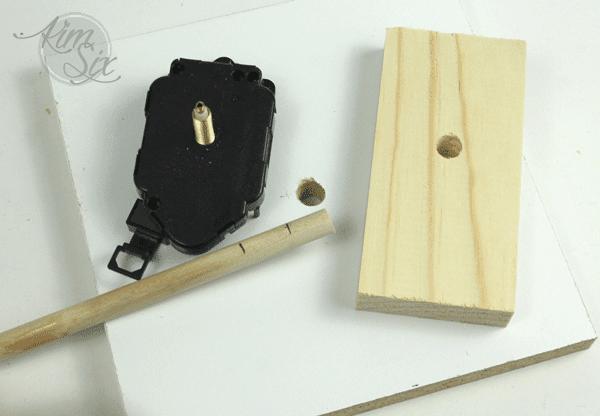 Supplies for concrete clock mold