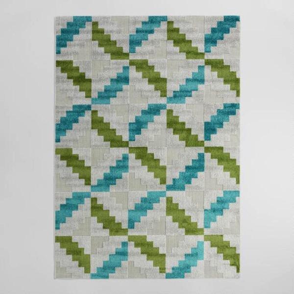 multicolor geo indoor outdoor rug