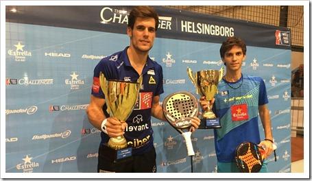 Marina y Concepción Campeones del Helsingborg Suecia Challenger WPT 2017.