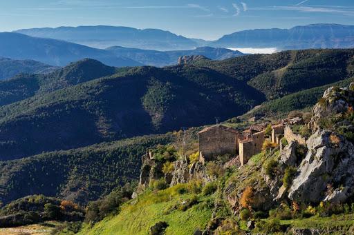 Peracalç des de la serra de Peracalç. Baix Pallars, Pallars Sobirà, Lleida