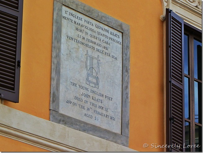 Keats-Shelley House, Rome