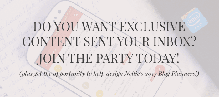 Get exclusive content straight to your inbox from Nellie and Co!