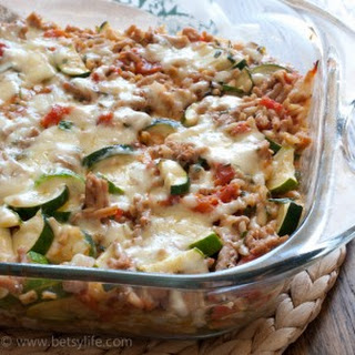 Cheesy Zucchini and Turkey Casserole