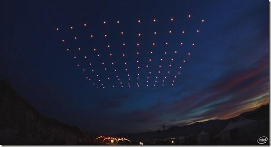 droni fuochi d'artificio