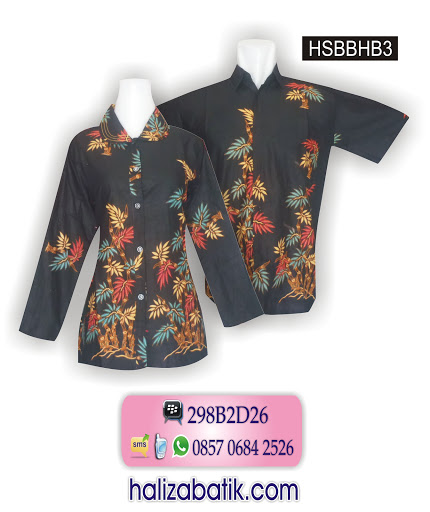 Baju Batik Couple Murah, Jual Baju Batik, Model Baju Batik Atasan, HSBBHB3