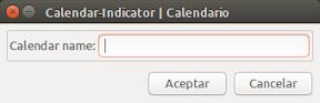 Calendar Indicator - añadir calendario