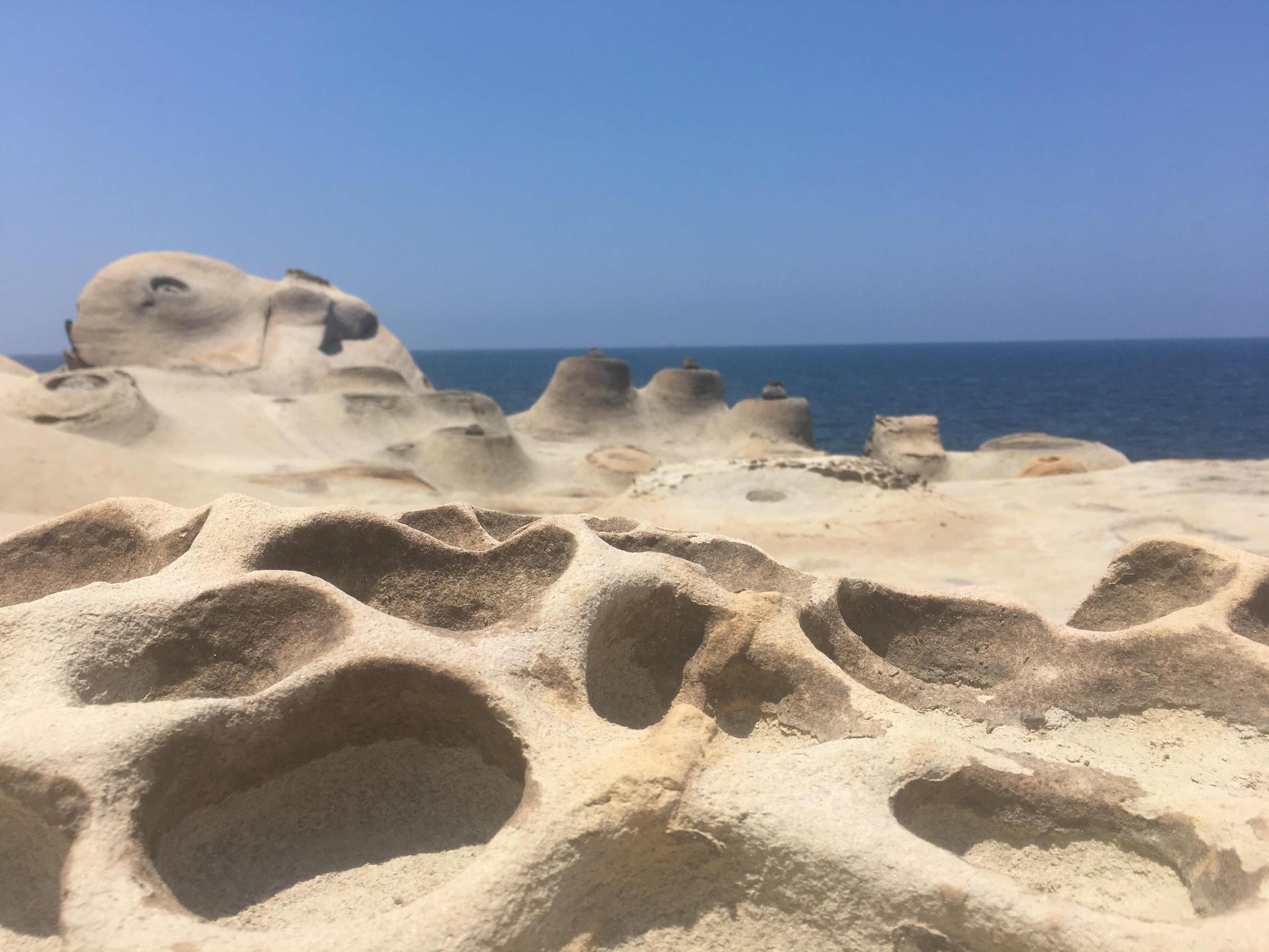 yehliu geopark queen's head yehliu peninsula north coast taipei taiwan honeycomb rock