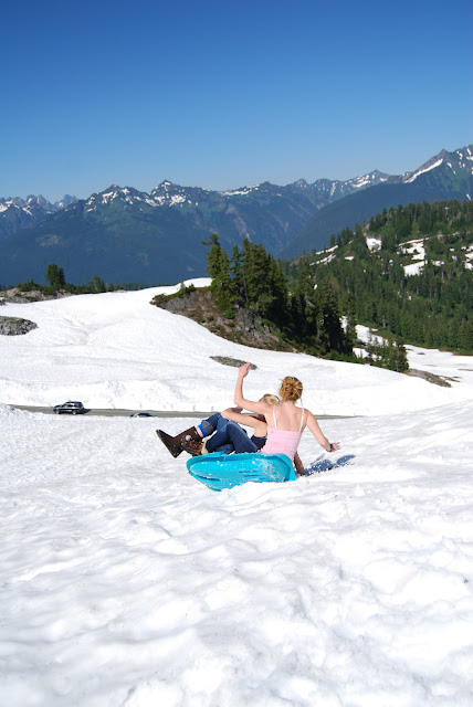 Summertime sled riding is a favorite at Arts Point / Credit: Bellingham Whatcom County Tourism