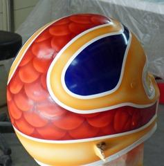 Helmet before clear coat