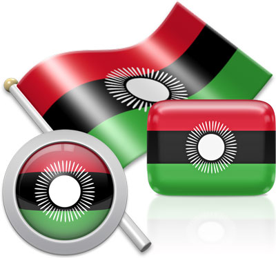 Malawian flag icons pictures collection