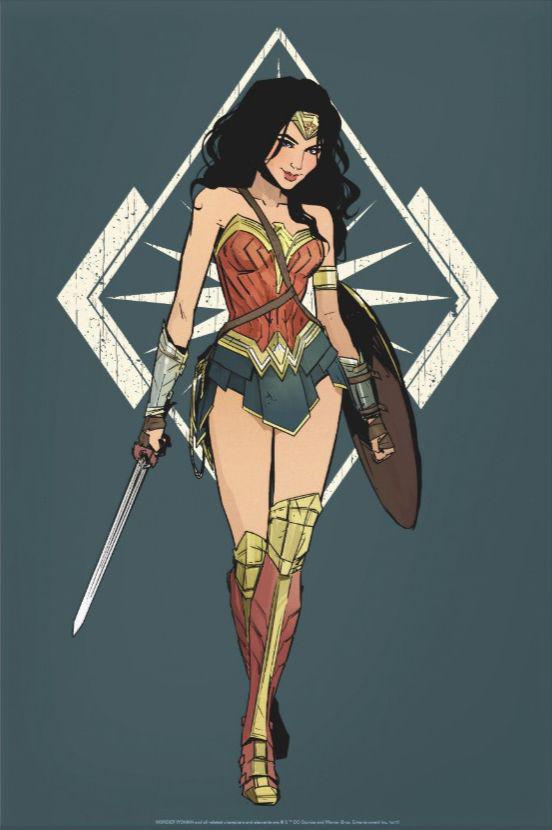 Download Wallpaper Wonder Woman art wallpapers HD