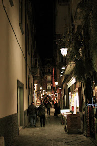 Streets of Sorrento at night