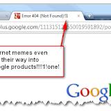 Google Error One Meme