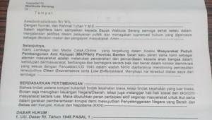 Diduga Walikota Serang Tidak Respon Pada Surat Audensi MAPPAK Terkait THM Kota Serang