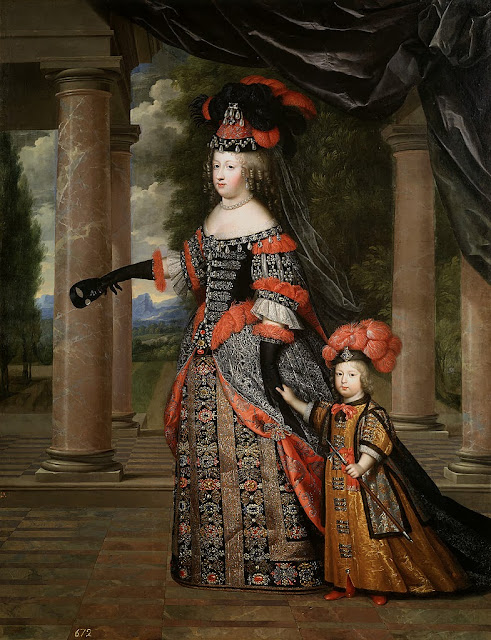 Charles Beaubrun - Queen Marie Thérèse and her son the Dauphin of France