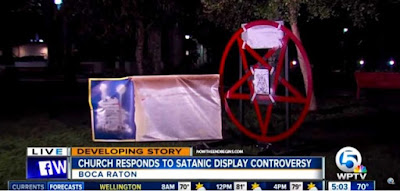 Satanic display causes controversy in Florida