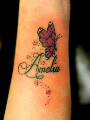 Name Tattoo Designs On Upper Arm