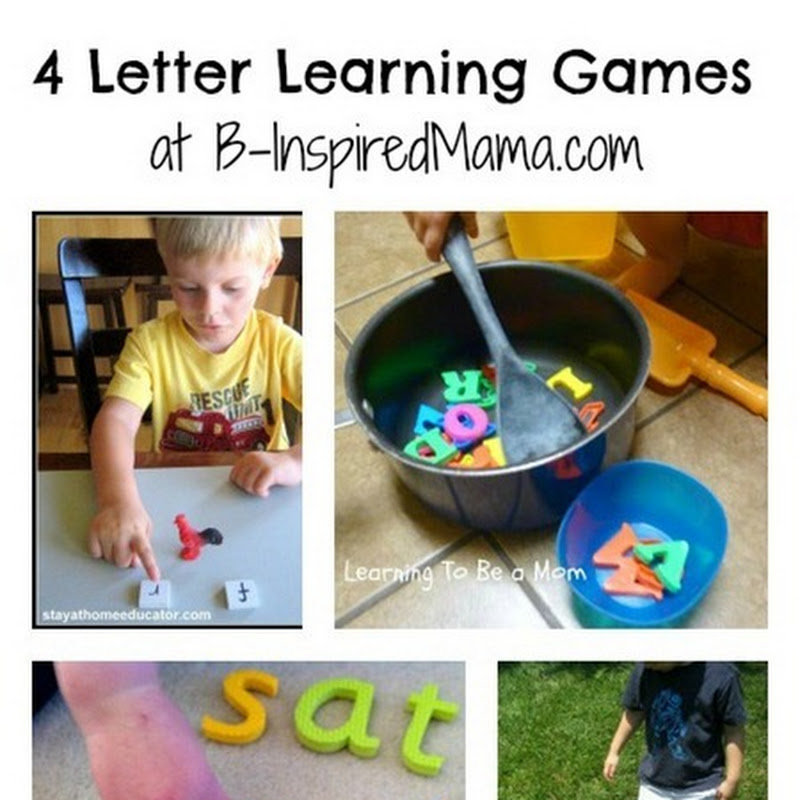 B.Inspired, Mama!: 4 Letter Learning Games [Kids Co-Op]
