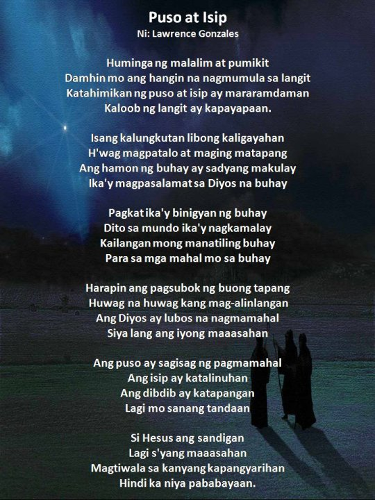Makatang Pinoy Christian Poem