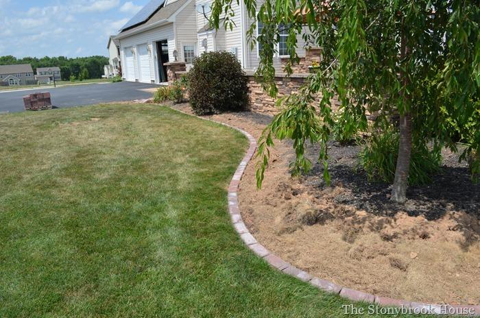 Extended Brick Garden Edge
